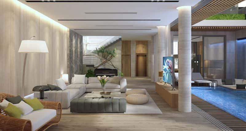 biet thu 3 tang hien dai 4 - Biệt thự 3 tầng với kiến trúc hiện đại có nhiều cây xanh
