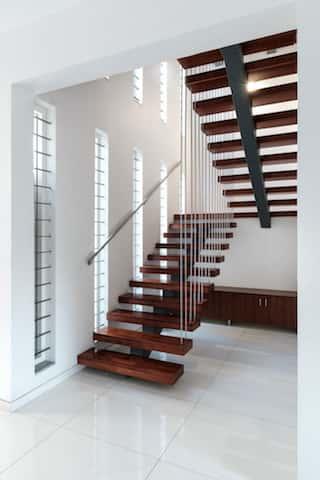 biet thu hien dai cau thang - Công trình biệt thự 2 tầng hiện đại đẹp