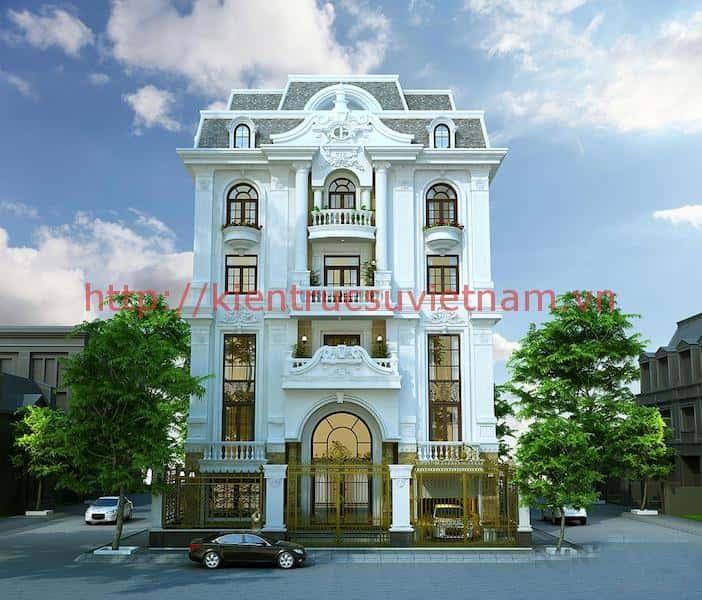 biet thu lau dai tan co dien - Các dự án thiết kế Biệt thự lâu đài đẹp đã thực hiện