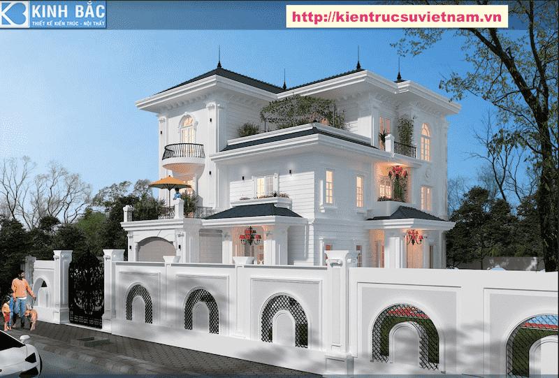 biet thu tan co dien dep - Thiết kế biệt thự 3 tầng đẹp