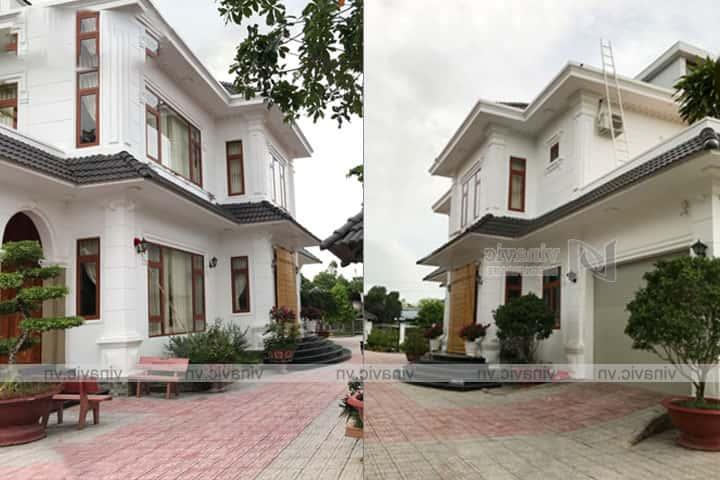 hoan thien mau biet thu 2 tang tan co dien dep TCBT1826 3 - Công trình biệt thự 2 tầng tân cổ điển đẹp với kinh phí 1.7 tỷ