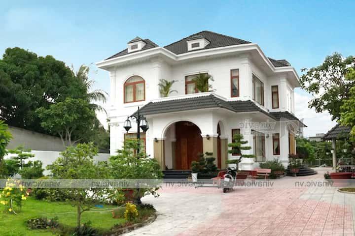 hoan thien mau biet thu 2 tang tan co dien dep TCBT1826 4 - Công trình biệt thự 2 tầng tân cổ điển đẹp với kinh phí 1.7 tỷ