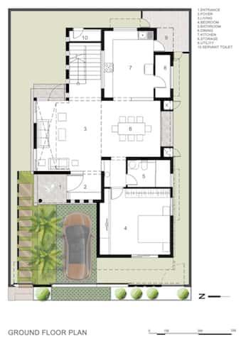 mat bang biet thu 4 - Công trình biệt thự 2 tầng hiện đại đẹp