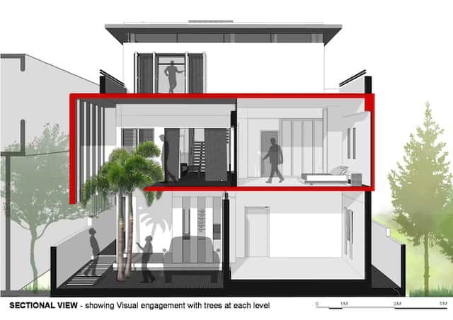 mat cat biet thu - Công trình biệt thự 2 tầng hiện đại đẹp