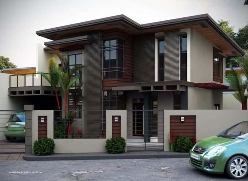 mau biet thu 2 tang dep 1 - Dự án thiết kế biệt thự 2 tầng mái thái đẹp 180m2