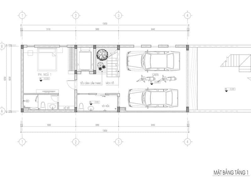 nha pho 5 tang dep 3 - Kiến trúc nhà phố 5 tầng hiện đại có tầng hầm nổi