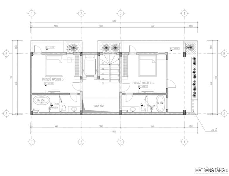 nha pho 5 tang dep 7 - Kiến trúc nhà phố 5 tầng hiện đại có tầng hầm nổi