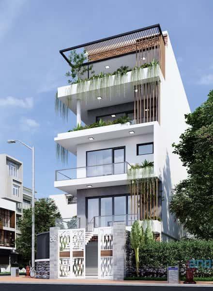 nha pho 5 tang dep - Thiết kế nhà 5 tầng đẹp