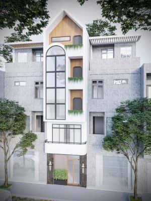 nha pho 5 tang hien dai 1 300x400 - Kiến trúc nhà 5 tầng hiện đại với mặt tiền ấn tượng
