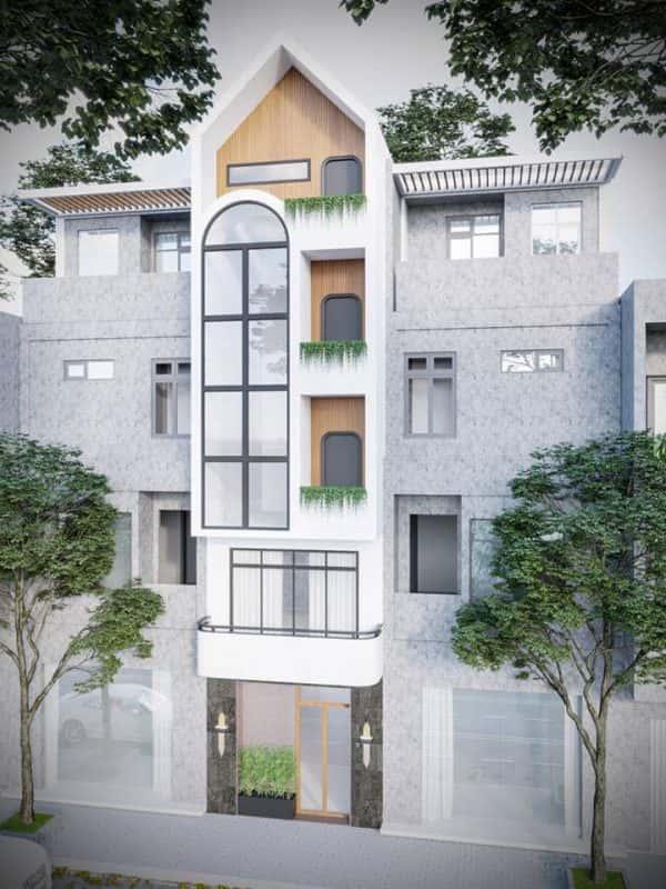 nha pho 5 tang hien dai 1 600x800 - Kiến trúc nhà 5 tầng hiện đại với mặt tiền ấn tượng