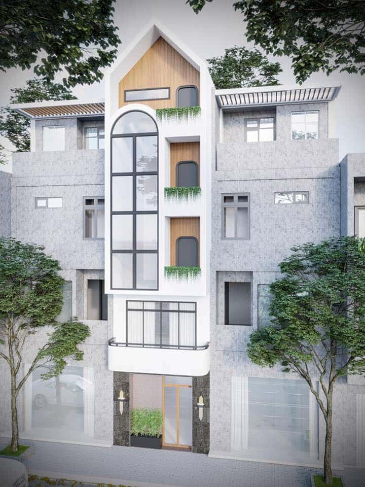 nha pho 5 tang hien dai 1 - Kiến trúc nhà 5 tầng hiện đại với mặt tiền ấn tượng