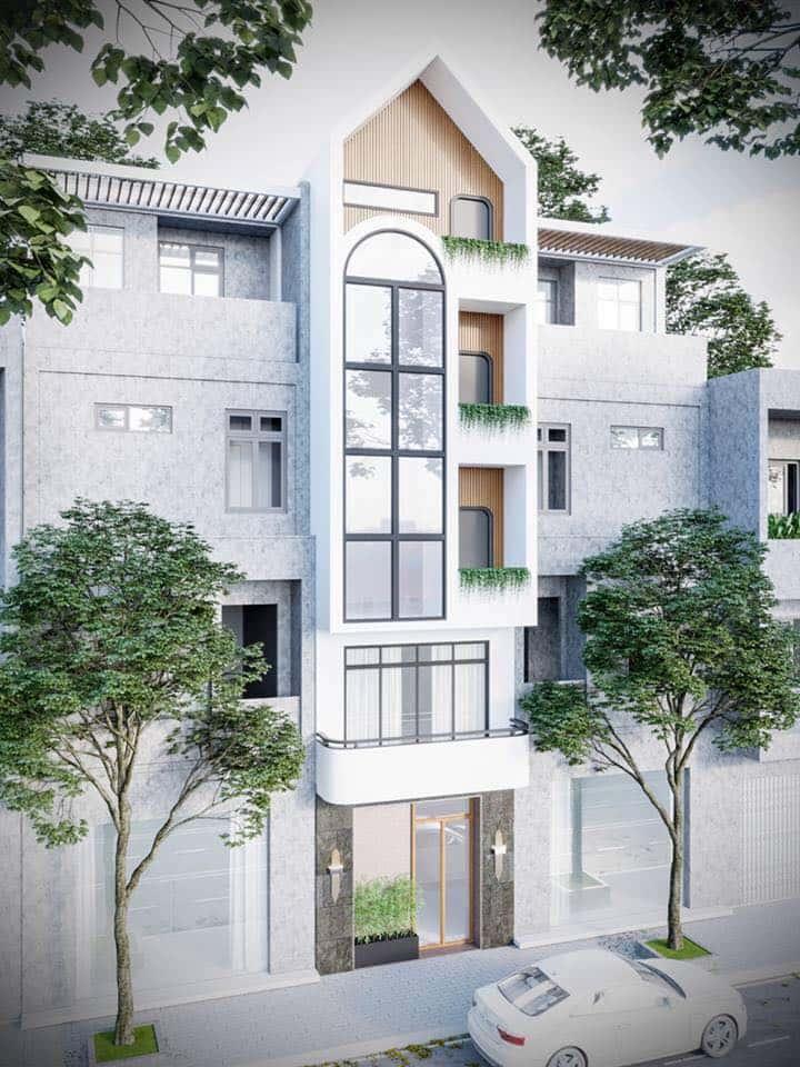 nha pho 5 tang hien dai 2 - Kiến trúc nhà 5 tầng hiện đại với mặt tiền ấn tượng
