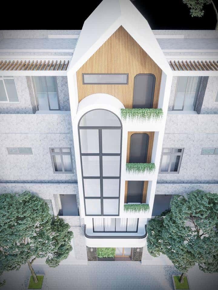 nha pho 5 tang hien dai 3 - Kiến trúc nhà 5 tầng hiện đại với mặt tiền ấn tượng