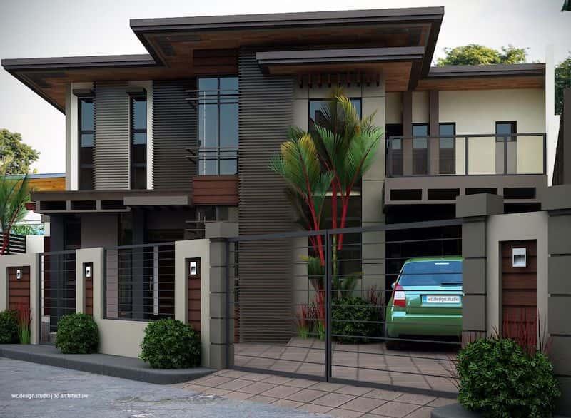 thiet ke biet thu 2 tang dep 1 - Dự án thiết kế biệt thự 2 tầng mái thái đẹp 180m2