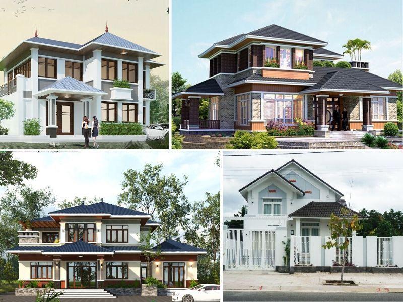thiet ke biet thu 2 tang mai thai hien dai dep - Thiết kế biệt thự 2 tầng mái thái hiện đại đẹp