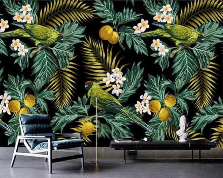 tranh tuong 10 - Vẽ tranh tường phòng khách đẹp