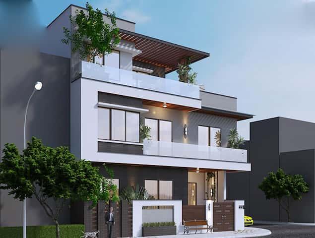biet thu 2 tang dep 2 - Biệt thự 2 tầng góc phố kiến trúc hiện đại diện tích 80m2  với 4 phòng ngủ