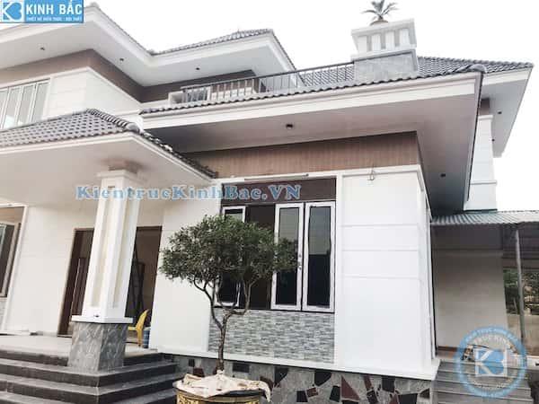 biet thu 2 tang dep hien dai 3 - Công trình biệt thự 2 tầng kiến trúc mái thái đẹp với kinh phí ~ 1.8 tỷ