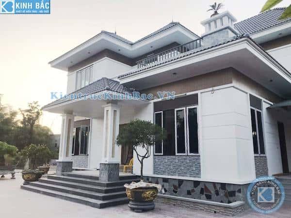 biet thu 2 tang dep hien dai 4 - Công trình biệt thự 2 tầng kiến trúc mái thái đẹp với kinh phí ~ 1.8 tỷ