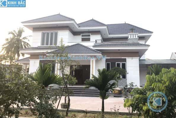 biet thu 2 tang dep hien dai mai thai 594x400 - Thi công xây dựng biệt thự ở tại Bắc Ninh