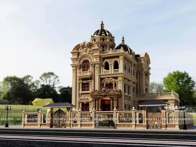 biet thu co dien sang trong 1 - Công trình biệt thự lâu đài cổ điển 3 tầng sang trọng đẳng cấp