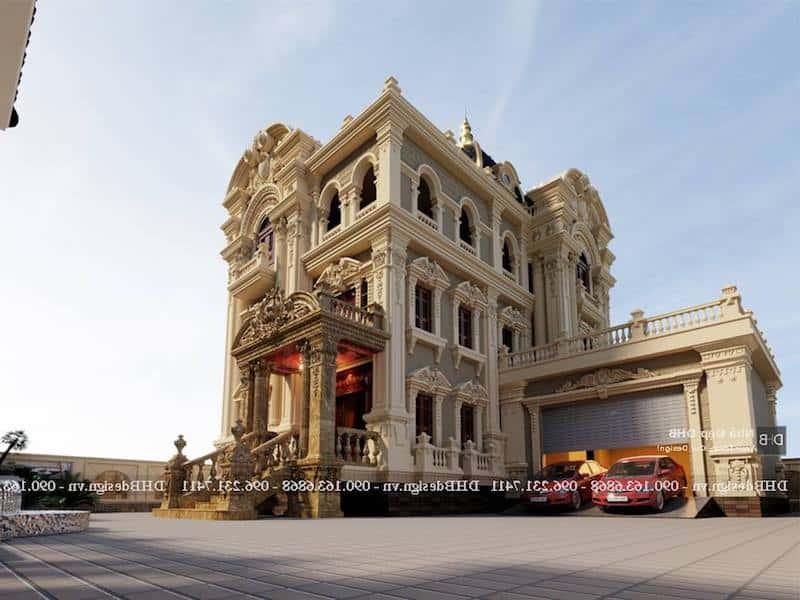 biet thu co dien sang trong - Công trình biệt thự lâu đài cổ điển 3 tầng sang trọng đẳng cấp