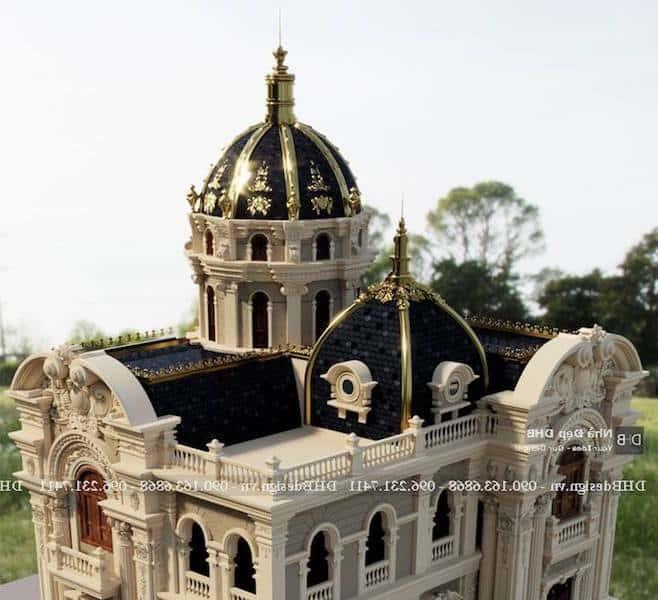 biet thu lau dai co dien 10 - Công trình biệt thự lâu đài cổ điển 3 tầng sang trọng đẳng cấp