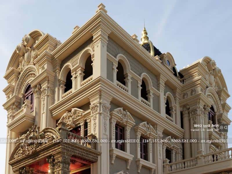 biet thu lau dai co dien 11 - Công trình biệt thự lâu đài cổ điển 3 tầng sang trọng đẳng cấp
