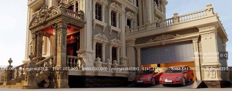 biet thu lau dai co dien 4 - Công trình biệt thự lâu đài cổ điển 3 tầng sang trọng đẳng cấp