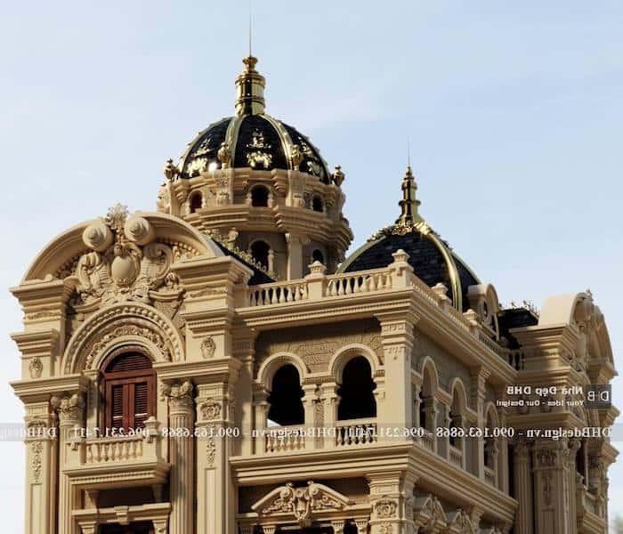 biet thu lau dai co dien 7 - Công trình biệt thự lâu đài cổ điển 3 tầng sang trọng đẳng cấp