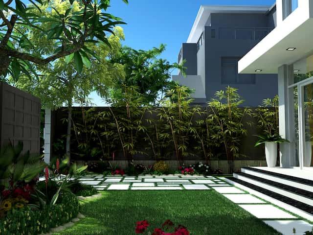 biet thu pho 3 tang 2 - Công trình biệt thự phố 3 tầng kiến trúc hiện đại 600m2