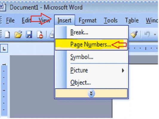 danh so trang trong word 2003 533x400 - đánh số trang trong word 2003
