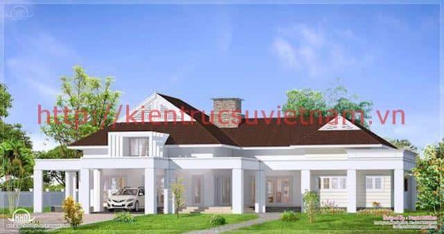 nha mai thai dep 002 - Tổng hợp các mẫu nhà mái thái 1 tầng đẹp từ 600 triệu