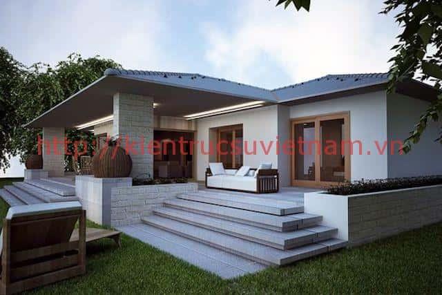 nha mai thai dep 002a - Tổng hợp các mẫu nhà mái thái 1 tầng đẹp từ 600 triệu
