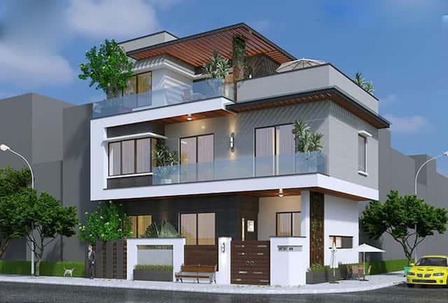 nha pho hien dai 2 tang 80m2 2 nxqvwkh6shqe456yfaar0k121se6sh4el796zeuo14 - Biệt thự 2 tầng góc phố kiến trúc hiện đại diện tích 80m2  với 4 phòng ngủ