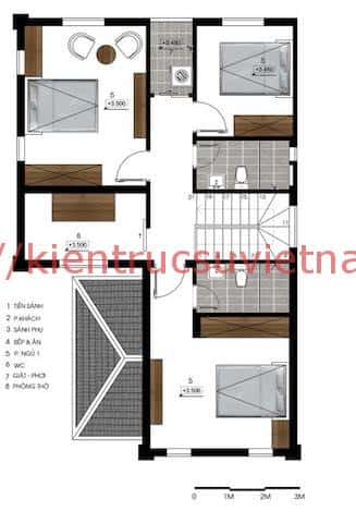 biet thu 2 tang mai thai 4 1 - Thiết kế biệt thự 2 tầng
