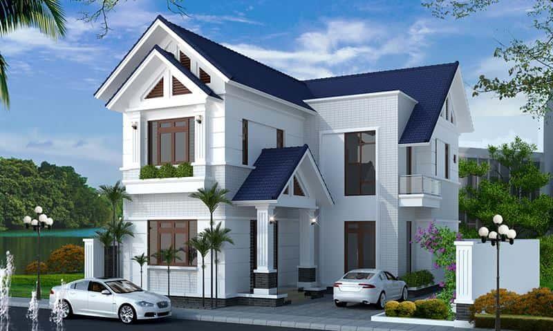 biet thu 2 tang mai thai dep 2 - Công trình thiết kế biệt thự 2 tầng mái thái diện tích 150m2 với 4 phòng ngủ