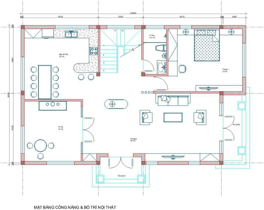biet thu 3 tang tan co dien 1 - Công trình biệt thự 3 tầng  tân cổ điển kiến trúc mái thái 130m2