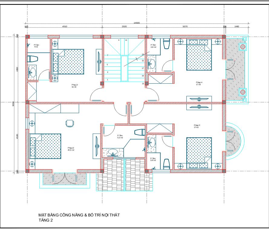 biet thu 3 tang tan co dien 2 - Công trình biệt thự 3 tầng  tân cổ điển kiến trúc mái thái 130m2