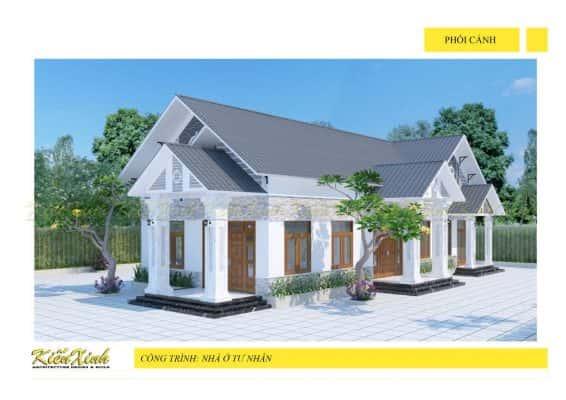 nha 1 tang 566x400 - Ảnh công trình thiết kế biệt thự 1 tầng đẹp