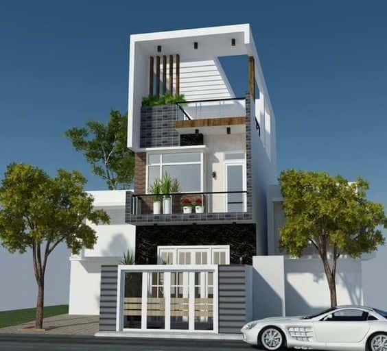 nha pho 3 tang dep - Kiến trúc ấn tượng của ngôi nhà phố 3 tầng hiện đại