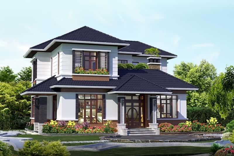 20170819091341 c235 - Công trình biệt thự 2 tầng kiến trúc mái thái đẹp