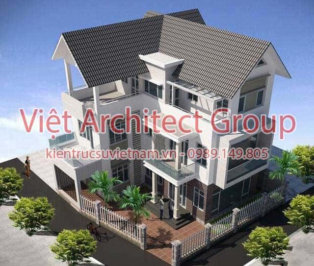 Mau biet thu 3 tang dep hien dai10 - 13 Mẫu thiết kế biệt thự phong cách hiện đại đẹp tham khảo xây 2019