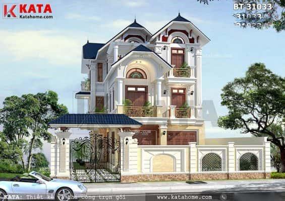 Mau thiet ke biet thu dep 3 tang mai thai tai nghe an bt 31033 01 565x400 - Ảnh công trình thiết kế biệt thự 3 tầng đẹp