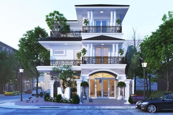 bia biet thu ca dien btc01 600x400 - Ảnh công trình thiết kế biệt thự 3 tầng đẹp