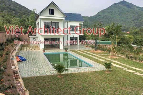 biet thu 2 tang dep viet architect group ms0010 600x400 - Công trình biệt thự 2 tầng hiện đại đẹp