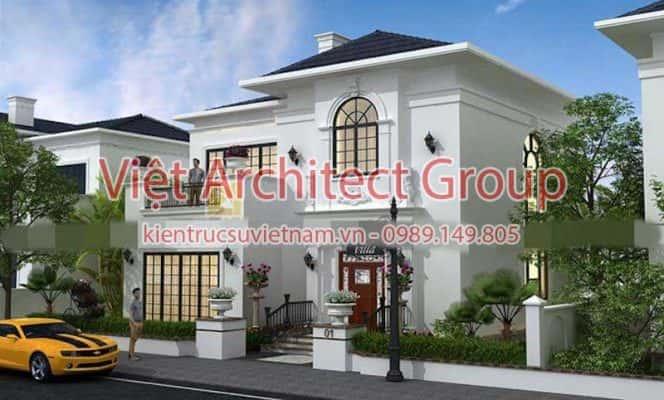 biet thu 2 tang dep viet architect group ms004 664x400 - Công trình biệt thự phố 2.5 tầng với kinh phí hoàn thiện 1.6 tỷ
