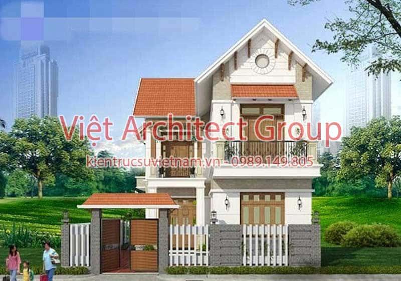biet thu 2 tang dep viet architect group ms009 - 13 Mẫu thiết kế biệt thự phong cách hiện đại đẹp tham khảo xây 2019