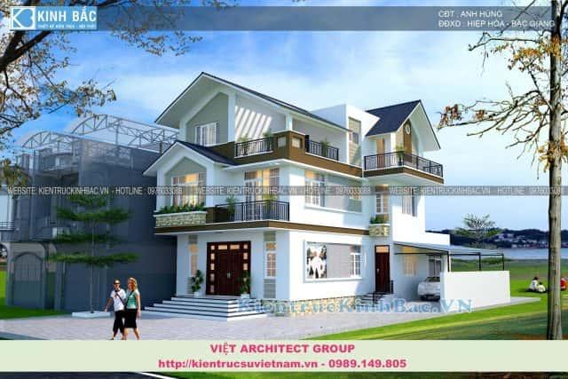 biet thu 3 tang e1573379965150 - Thiết kế biệt thự 2 tầng