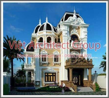 biet thu co dien dep 445x400 - Thiết kế biệt thự cổ điển đẹp